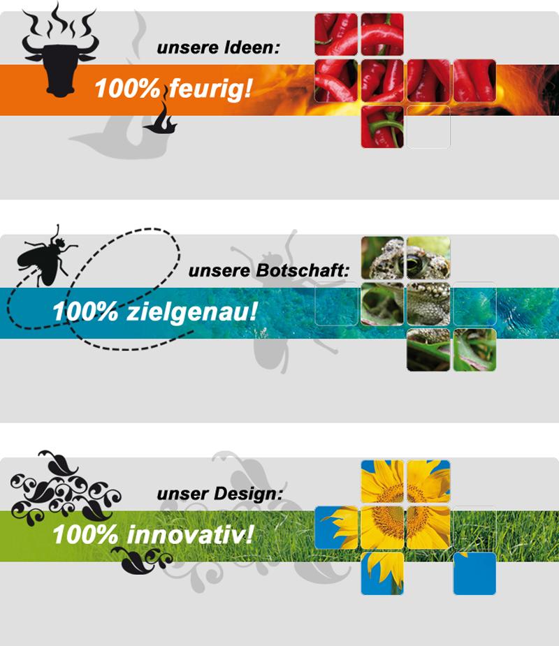 Ideen Botschaft Design
