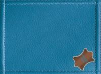 Echtes Leder Blau