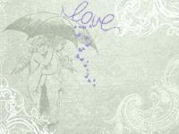 Engel unter Schirm