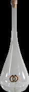 Mundgeblasene Flasche mit Ringen Tropfenform