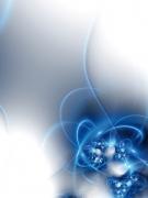 Ornamente Blau Perlen