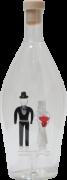Mundgeblasene Flasche mit Brautpaar