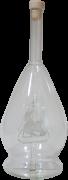 Mundgeblasene Flasche mit Segelschiff