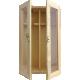 Holzkiste mit Sichtfenster und Tragekordel 2er