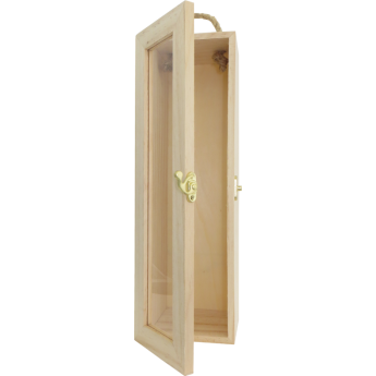 Holzkiste mit Sichtfenster und Tragekordel 1er